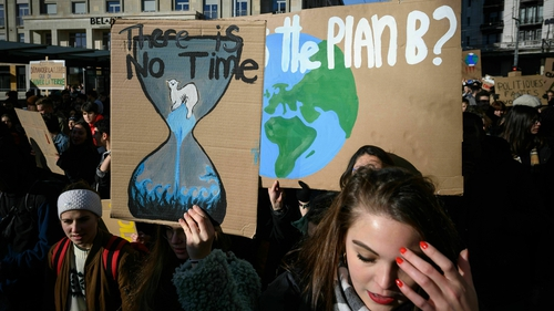 Pupils as young as 12 turned out for the 'climate strike'