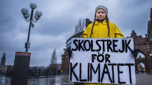 A message on climate change from Swedish activist Greta Thunberg