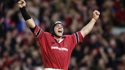 Alan Quinlan celebrates the incredible victory against Gloucester