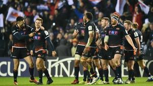 Edinburgh players celebrate their victory
