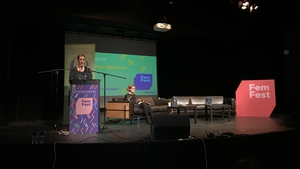 Vicky Phelan was giving a keynote address at a conference for young women in Dublin