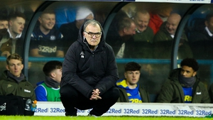 Bielsa on the touchline for Leeds