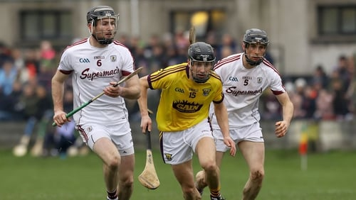 It was 13 men against 14 for the entirety of the second half but Galway held Wexford off to win