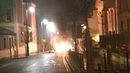 The scene on Bishop Street in Derry tonight (Pic: PSNI DC&S District)