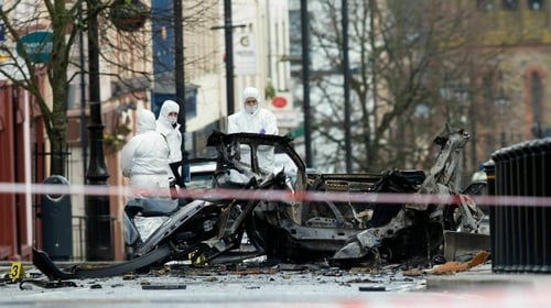 Bomb detonated outside the courthouse in Derry on 19 January