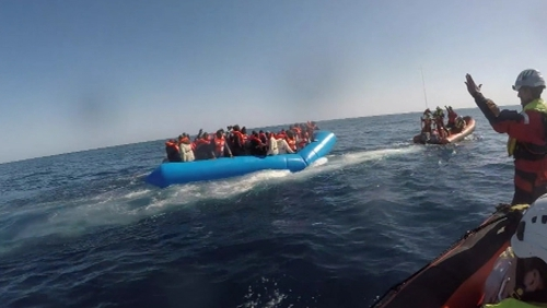 Charity Sea-Watch said it rescued 47 people at sea from a rubber boat in distress north of the Libyan city of Zuwara
