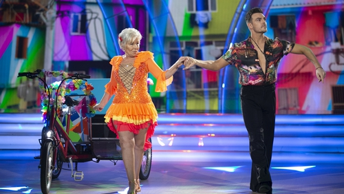 Eilish O'Carroll with dance partner Ryan McShane