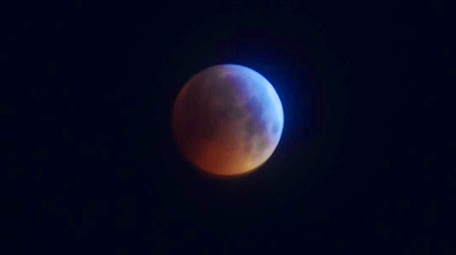Look to the sky to see a blood red supermoon