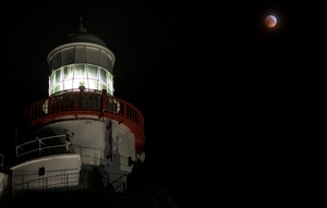 This image of the moon was taken at Hook Lighthouse, Co Wexford (Pic: Leah Burgess)