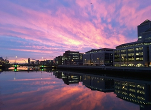 The sunrise in Dublin this morning (Pic: James Grandfield)