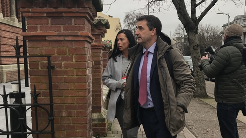 Ashling Thompson arriving at Cork District Court with her solicitor, Eddie Burke