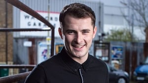 Max Bowden on the EastEnders set -