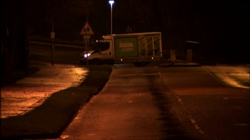 The Asda van was abandoned on the west side of Derry city