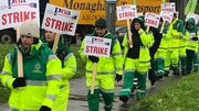 PNA members on the picket line in Cork