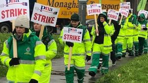 PNA members on the picket line in Cork