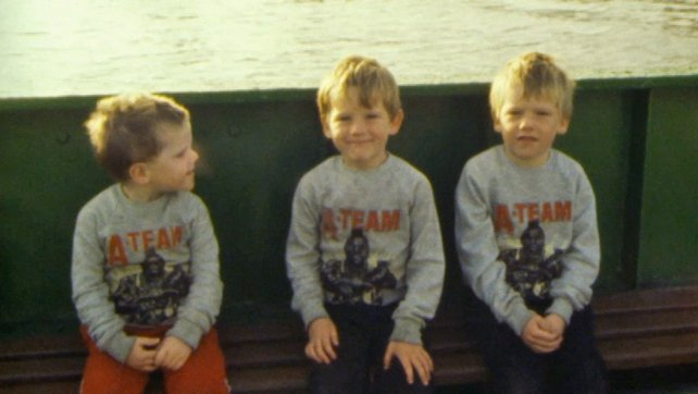 Young Passengers on board the Liffey ferry (1984)