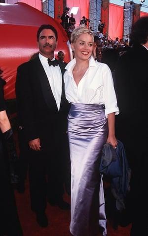 Sharon Stone in a Vera Wang skirt (1998)