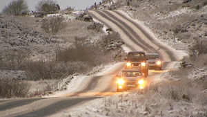 Snowy conditions also affected parts of Co Donegal