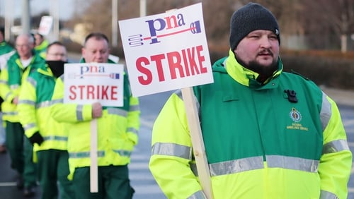 PNA ambulance members have beenstriking in pursuit of their right to join, and be represented by the PNA as the union of their choice.