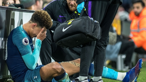Alli suffered the injury in Sunday's 2-1 win at Fulham