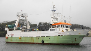 The crew of the French-registered fishing vessel recovered the human remains (Pic: Niall Duffy/West Cork Photo)