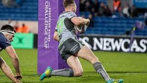 Jack Carty scored the winning try against Bordeaux