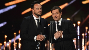 Ant and Dec pictured at the National Television Awards in 2017