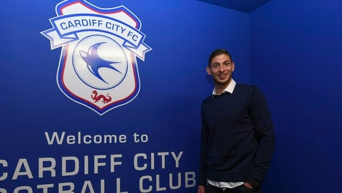 Concern Cardiff City signing Emiliano Sala on missing airplane