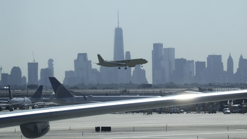 Newark airport in New Jersey, near New York, is the 11th busiest airport in the US