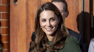 Kate wowed in an elegant and politically symbolic dress. Photo: Getty