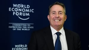 British trade minister Liam Fox is in Davos this week