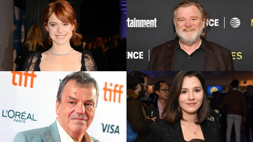 (Clockwise from top left) Jessie Buckley, Brendan Gleeson, Charlie Murphy, and Neil Jordan all have films in the festival