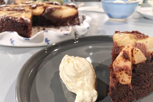 Eunice's Chocolate Pear & Pecan Cake