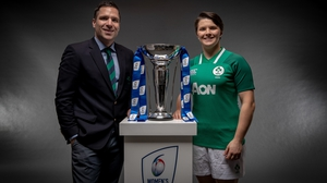 Adam Griggs, alongside captain Ciara Griffin, leads Ireland into the second Six Nations of his reign