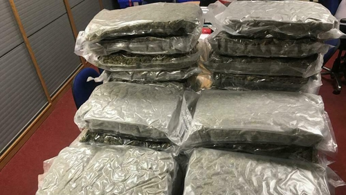 The drugs were found during a search in Drogheda this morning