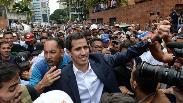 Jian Guaidó who has declared himself interim president of Venezuela