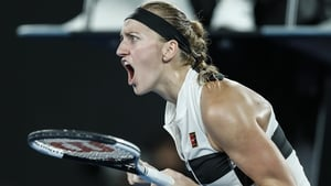 Petra Kvitova won in an hour and 34 minutes