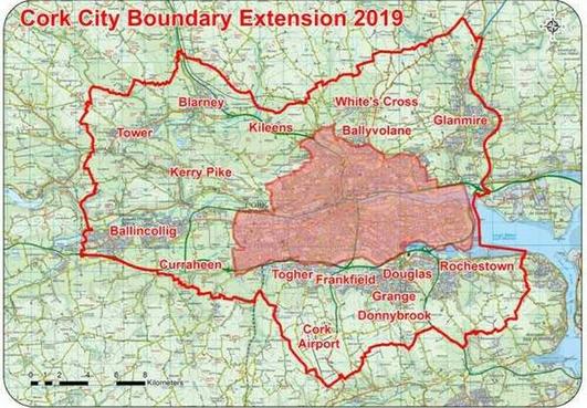 Cork City's footprint set to quadruple with boundary change