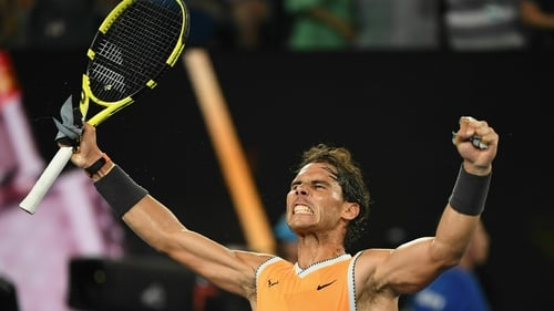 Rafael Nadal dropped just six games in three sets