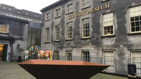 A children's speakers corner is being set up at the courtyard of the Hunt Museum in Limerick