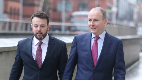 Colum Eastwood and Micheál Martin announced a series of common policies