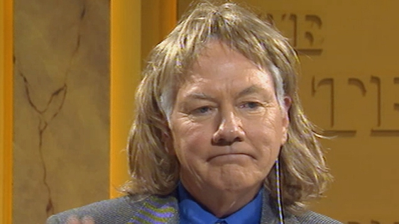 Gay Byrne in a wig on The Late Late Show (1999)