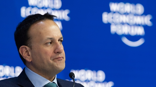 Leo Varadkar made his comments in Davos in an interview with Bloomberg TV