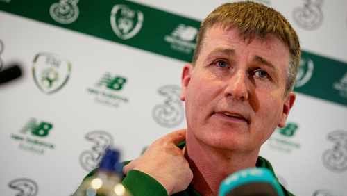 Stephen Kenny faced the media at the FAI headquarters on Thursday