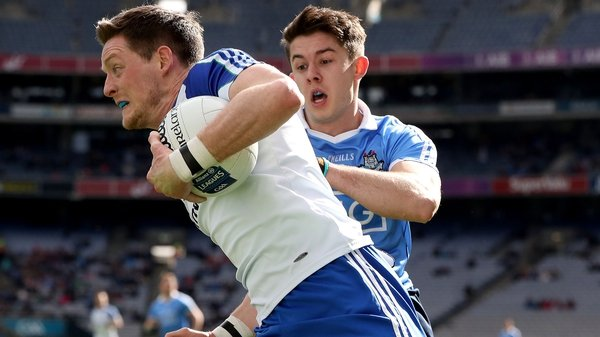 Monaghan forward Conor McManus takes on the Dublin defence during last year's league encounter at Croke Park