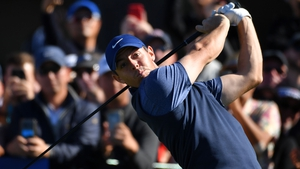 Rory McIlroy in first-round action at the Farmers Insurance Open