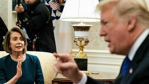 Nancy Pelosi with one of her memorable run ins with Donald Trump at the White House