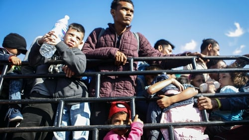 Increasing number of families are trying to enter the US