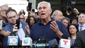 Roger Stone addressed the media after leaving the federal courthouse