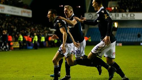 Murray Wallace celebrates scoring